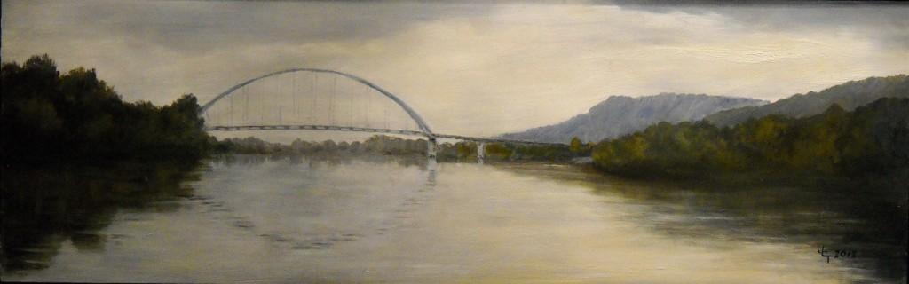 Unsettled Day--Shelby Rhinehart Bridge, South Pittsburg--Deborah Tucker 12-2012