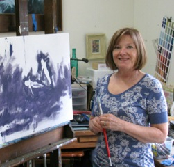 Ellyn in her studio
