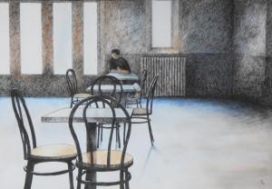 James Tucker-- Wayfarer (2) 15x22 Pen & Ink with watercolor wash $295