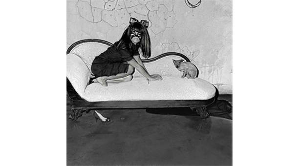 "Roger Ballen, Actress Selma Blair. From ""The Selma Blair Witch Project-- Fall's Dark Silhouettes Have a Way of Creeping Up on You,"" 2005"