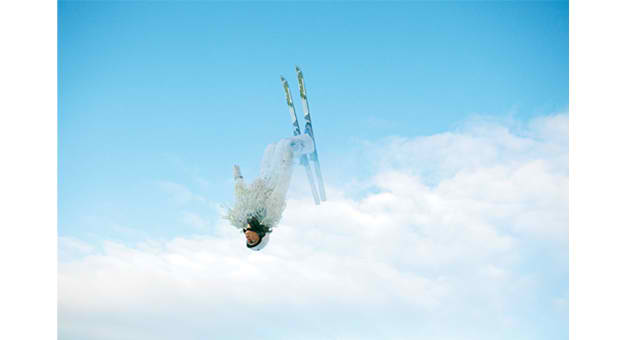 "Ryan McGinley, Emily Cook, 2010 Olympic freestyle skier (aerials). From ""Up!,"" published February 7, 2010 (cover image)."