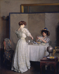 """William McGregor Paxton, """"Tea Leaves"""" 1909"""