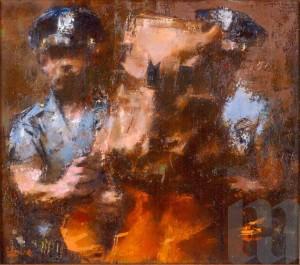 "Jack Levine, ""The Arrest"", 1983"