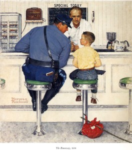 Norman Rockwell-- The Runaway 1958
