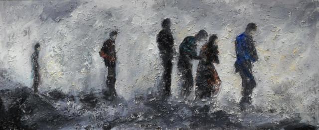 Acrylic painting, figure painting